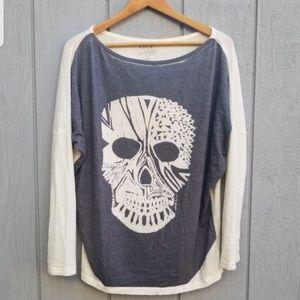 Go Couture Skeleton Dolman Sweater S